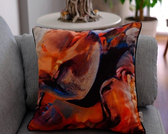 Blurred 1 Design Cushion, inspired from the work of Turkish painter Professor Mehmet Ozet (copyrighted production)