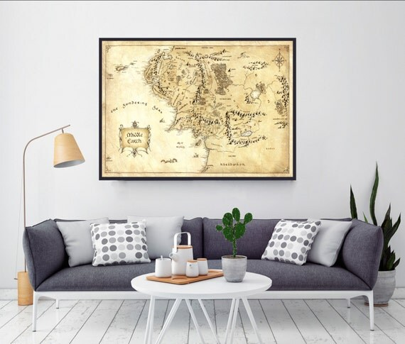 Lord Of The Rings Middle Earth Map The Hobbit Home Decor Home Decorators Catalog Best Ideas of Home Decor and Design [homedecoratorscatalog.us]