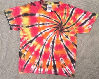 Kids Tie-Dye T-Shirt, Youth Small, Colorful Kids Shirt, Bright Orange Shirt, Cute Kids Tie dye, Colorful Tie Dye, Unique Clothing, G021711