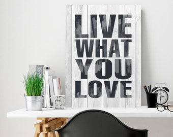 Live what you love, Live as you like, Iron plate, Gift to a friend, useful advice plate, Metal Signs, metal art, Motivation iron plate