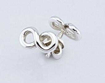 Pair of Infinity Symbol Earrings 925 Silver