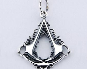 Assassin  925 silver pendant medallion