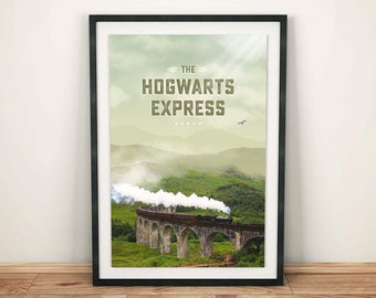 The Hogwarts Express Inspired Print