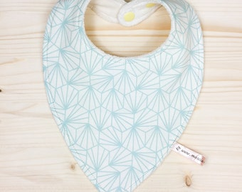 Baby bandana geometric Mint 0-12 months