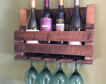 Rustic wine rack, rustic home decor, housewarming gift, wine gift, wedding gift