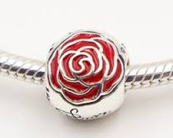 Pandora Disney Parks Belle Enchanted Rose Charm