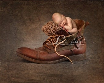 Digital Backdrop Newborn background vintage mens boot rustic Digital Photography prop / pic #23
