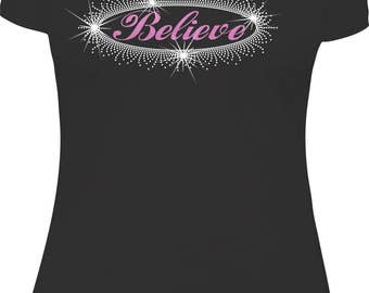Believe Rhinestone and Glitter vinyl
