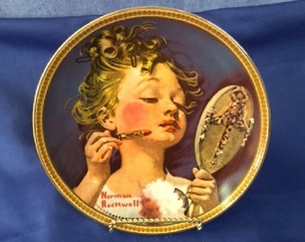 """Norman Rockwell """"Making Believe In The Mirror"""" - 1982 - 13496M"""