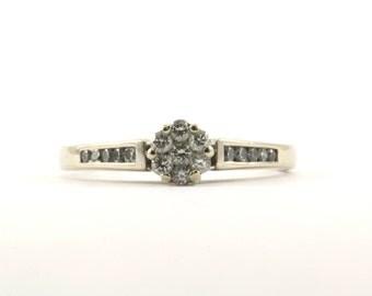 14K White Gold 0.25 ct Diamonds Ring  GRG 34-E
