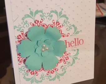 Hello! Floral Greeting Card