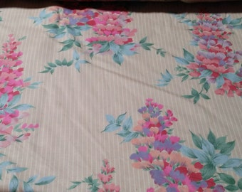 Vintage House and Home country floral fabric 1984