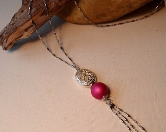 Pink and silver metal string   (Rupture de stock / sold out)