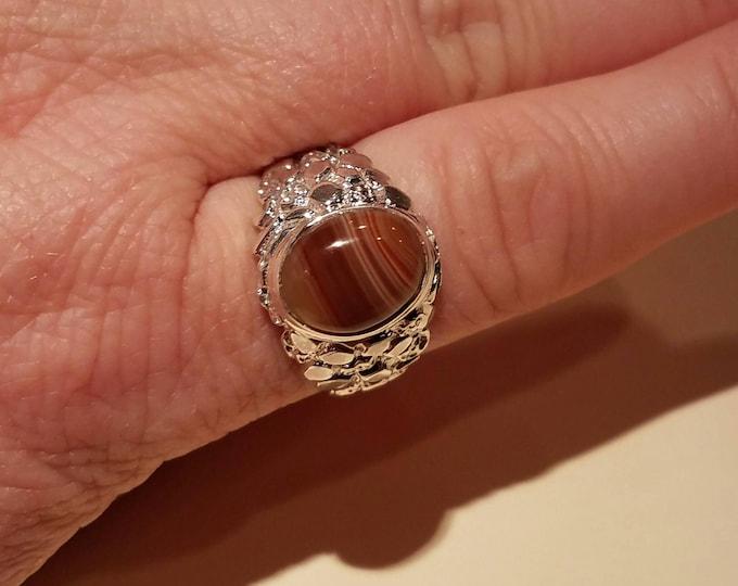 Lake Superior Agate Ring LSAR-9 Size 10.5