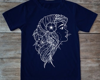 Gipsy shirt, gipsy tattoo, gipsy woman shirt, tattoo shirt, classic tattoo art, old school shirt, hipster gift, gift for tattoo lovers