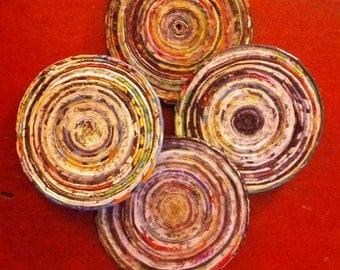 Handmade Magazine Coasters
