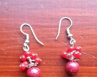 Pretty red earrings