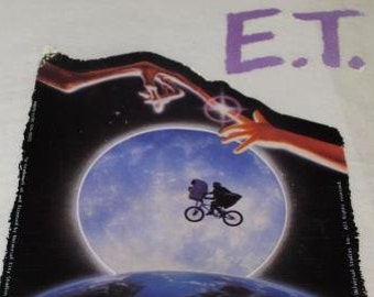 E.T. Moon Vintage Iron On Transfer