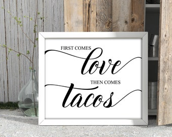 Printable First Come Love Then Comes Cake