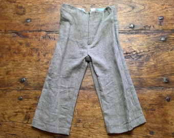 Herringbone Trousers, pure linen