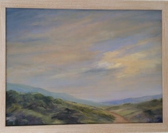 "Oil painting. ""Moorland Dawn"""