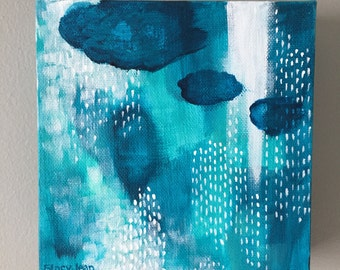 Small Abstract Acrylic Painting on Canvas, Original Painting