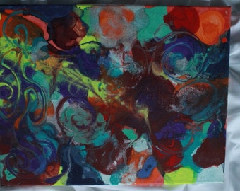 Abstract Swirl Painting