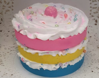 Candy Land Fake Cake, Smash Cake Photo Props, Birthday Party Decorations, Candy Naked Cake Displays, Kitchen Cake Displays