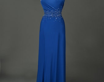 Beaded evening/ Prom gown with cutout back