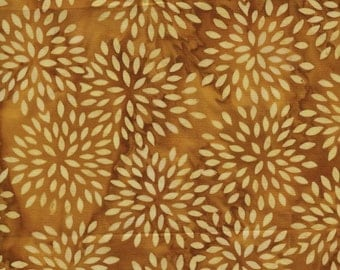 Island Batik Sweet Georgia Peach - Dahlia Batik - Sold by the Yard