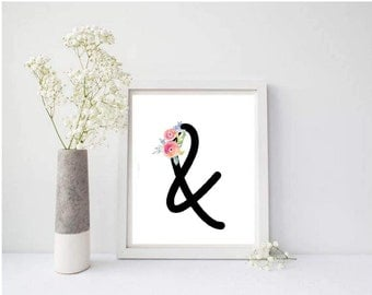 Floral Ampersand Printable