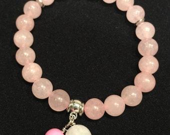 Rose Quartz Natural Stone Bead Bracelet