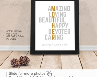 Mother quotes, Mother wedding gift PRINT/CANVAS/DIGITAL, Mothers Day idea, Definition of Mother, Birthday Gift for Mom, Mom Gift from kids