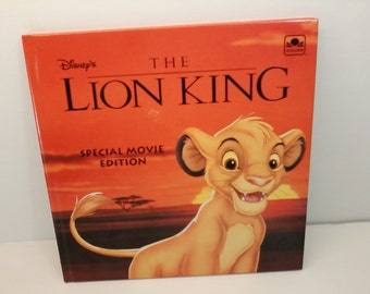 The Lion King Special Movie Edition Golden Book 1994 The Walt Disney Company Collectable Hardback