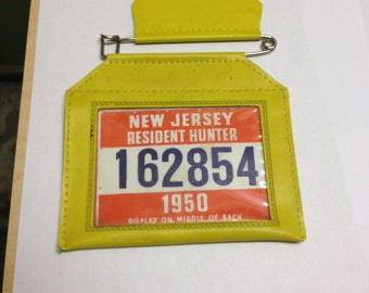 Vintage hunting license etsy for New jersey fishing license