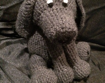 Unique handmade crochet plush dog