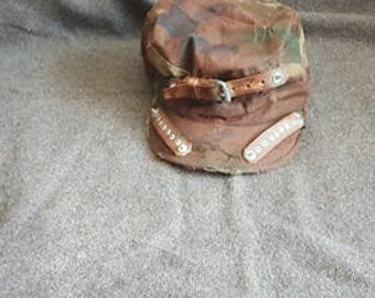 Distressed modified Woodland BDU cap