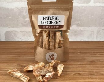 Natural Dog Jerky, treats, pet food, animal, chicken, liver, meat