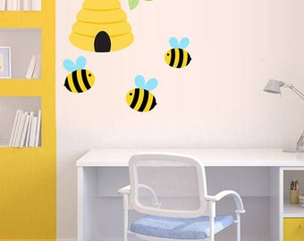 Bee wall decal | Etsy