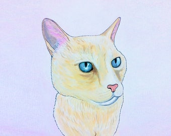Custom Commemorative Pet Portrait of Nellie