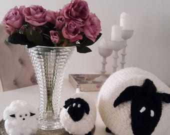 Handmade Kids Toy Big Fluffy Crochet Sheep- only the big sheep