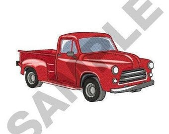 Classic Pickup Truck - Machine Embroidery Design