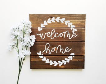WELCOME HOME // 10x10 Four Panel Wooden Sign