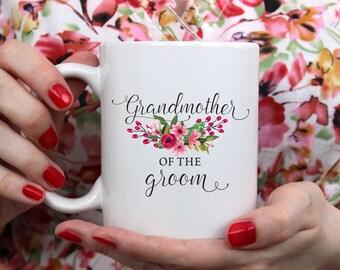 Grandmother To The Groom Mug, Grandmother of the Groom Gift, Gift For Grandma, Grandmother Wedding Gift, Wedding Gift, Grandma Mug