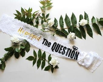 Bridal Lace Sash - Bachelorette Sash - Wedding Sash - Bride gift - Bridesmaid - Maid of Honor - Bachelorette Party