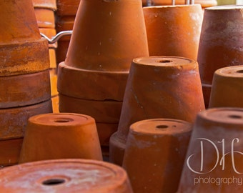 Terra Cotta Pots - Gardening - Photography - Orange