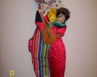 Handmade Vintage Clown Doll