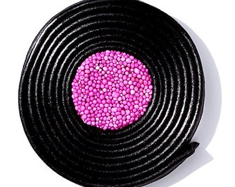Catherine Wheel Liquorice Sweet - Pink Photographic Print - Photograph - Photo Prints - Fine Art - Circular shape - The London Print Shop