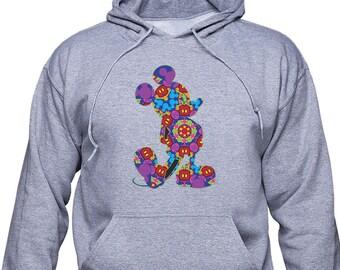 Con capucha Mickey Mouse / Mickey Pop Art / sudadera Disney / unisex con capucha / unisex Sudadera / hoodie Disney World / divertido suéter / 4XL / (MAM01)