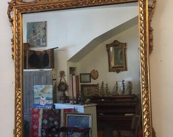vintage 1920s gold mirror
